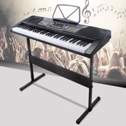 Uenjoy 61 Key Music Electronic Keyboard Electric Digital Piano LED Display LED Screen w /Adjustable H-Stand, Black