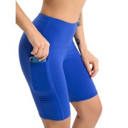 15ae0bf6e2 High Waist Workout Yoga Shorts for Women Tummy Control Running Athletic Non  See-Through Gym