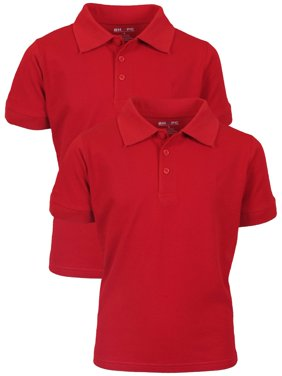 Boy's Uniform 2 Pack Short Sleeve Cotton Jersey Polo