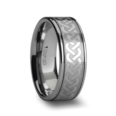 Pallas Celtic Knot Laser Engraved Tungsten Wedding Ring - Wedding Knot