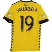 ca52f47ae27 Milton Valenzuela Columbus Crew SC Autographed Match-Used Yellow  19 Jersey  vs. New