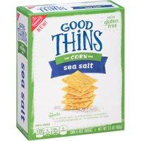 (2 Pack) Good Thins Sea Salt Corn & Rice Snacks, 3.5 oz