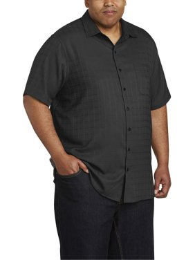 Men's Big & Tall Easy Care Short Sleeve Plaid Shirt, up to size 7XL