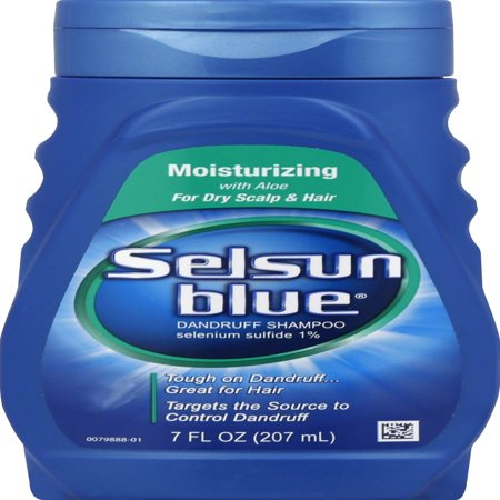 Selsun Blue Moisturizing Dandruff Shampoo with Aloe for Dry Scalp and Hair,