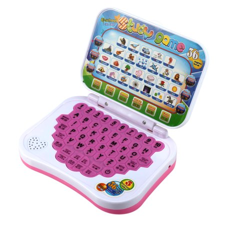 Dilwe Baby Kids Children Bilingual Educational Learning Study Toy Laptop Computer Game, Educational Laptop, Toy Laptop