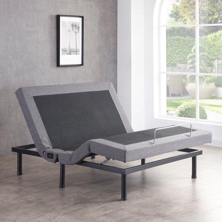 Adjustable Bed Base >> Modern Sleep Adjustable Comfort Upholstered Adjustable Bed Base With