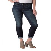 Signature by Levi Strauss & Co. Women's Mid Rise Slim Cuffed Jeans