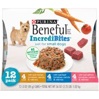 Purina Beneful Small Breed Wet Dog Food Variety Pack; IncrediBites - (12) 3 oz. Cans