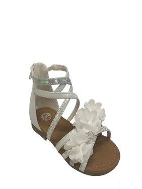 Girls' Wonder Nation Flower Gladiator Sandals