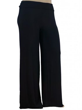 Women's Plus Size Premium Modal Softest Ever Stretchy Pants Palazzo Pants Yoga Pants Made in USA with Imported Fabric