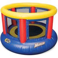 Banzai 8-Foot Mega Bounce Trampoline, Blue/Red/Yellow