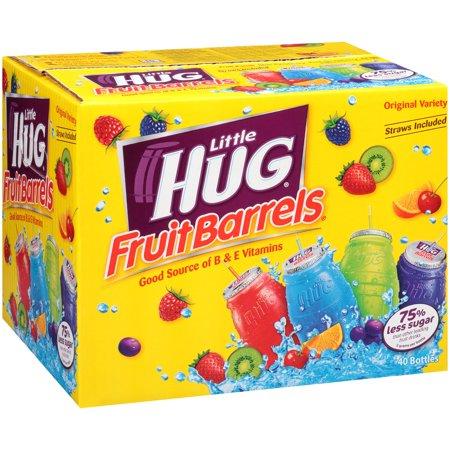 Little Hug Fruit Drink Barrels Original Variety Pack, 8 Fl. Oz., 40