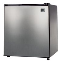 RCA 4.5 Cu Ft Single Door Mini Fridge RFR465, Stainless Steel