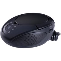 ONN Portable AM/FM CD Boombox with 3.5 mm Aux in Jack, Battery Operated