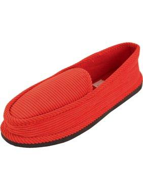 bright men's corduroy house slippers