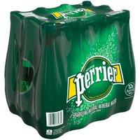 (12 Bottles) PERRIER Sparkling Natural Mineral Water, 33.8 Fl Oz