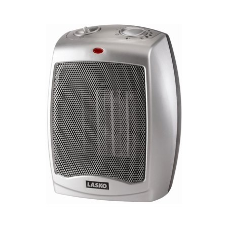 Lasko Electric Ceramic Heater, 1500W, Silver, (Best Energy Efficient Space Heater)