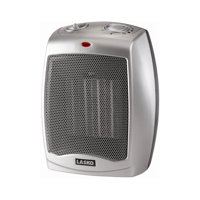 Lasko Electric Ceramic Heater, 1500W, Silver, 754200