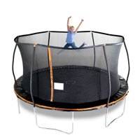 Bounce Pro 15-Foot Trampoline, with Enclosure, Orange