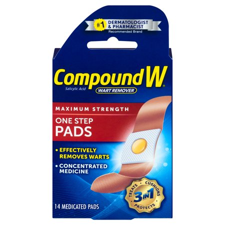 Wart Care - Compound W Wart Remover One Step Pads Maximum Strength - 14 CT