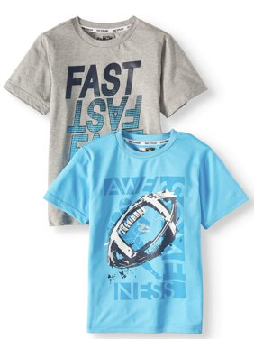 Short Sleeve Performance Graphic Tee Value, 2-Pack Set (Little Boys & Big Boys)