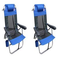 Outdoor Spectator MultiPosition Backpack Beach Chair-2PK