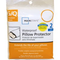 Mainstays Waterproof Zippered Pillow Protector, Jumbo (2 Pack)