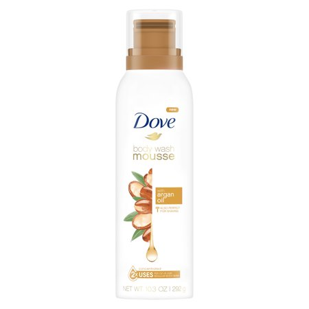 (2 pack) Dove Body Wash Mousse with Argan Oil 10.3 oz