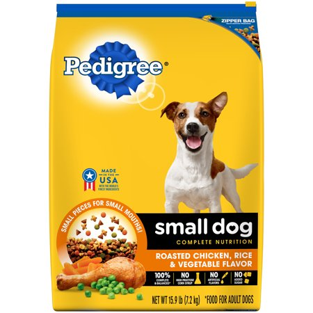 PEDIGREE Small Dog Roasted Chicken, Rice and Vegetable Flavor Dry Dog Food, 15.9 (10 Lb Flavor Tabs)