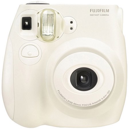31cc2a5a65679 Fujifilm Instax Mini 7S Instant Camera (with 10-pack film) - White -  Walmart.com