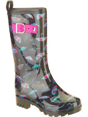 Women's Umbrella Mix Printed Mid-Calf Jelly Rain Boots
