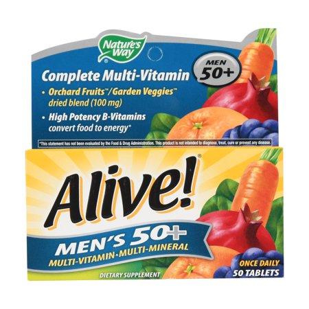 Natures Way Alive! Mens 50+ Vitamins Multivitamin Supplement Tablets 50 Count