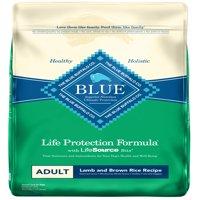 Blue Buffalo Life Protection Formula Natural Adult Dry Dog Food, Lamb and Brown Rice, 22-lb