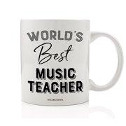 Worlds Best Music Teacher Coffee Mug Gift Idea Musical Education Teaching Students Choir Instruments Band Orchestra