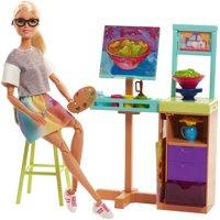 Barbie Career Art Studio with Easel & Flip Painting Playset