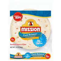Mission® Carb Balance® Medium Soft Taco Flour Tortillas 8 ct Bag