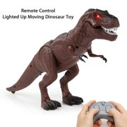 Remote Control Walking Movement Dinosaur Toy Model Eyes Light Up Sound Action Figure Christmas Gift