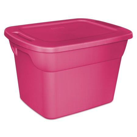 Tub Single Storage Unit (Sterilite 18 Gal./68 L Tote Box, Fuchsia Burst (Available in a Case of 8 or Single Unit))