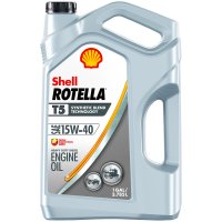 Shell Rotella T5 15W-40 Synthetic Blend Heavy Duty Diesel Engine Oil, 1 gal