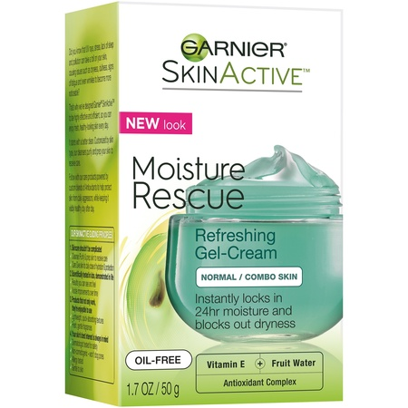 Garnier SkinActive Moisture Rescue Refreshing Gel-Cream for Normal/Combo Skin 1.7 oz. Box