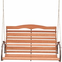 "Jack Post CG-05Z 48"" High Back Wood Porch Swing with Chain"