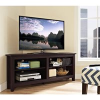 "Corner Media Storage Console for TV's up to 60"", Multiple Colors"