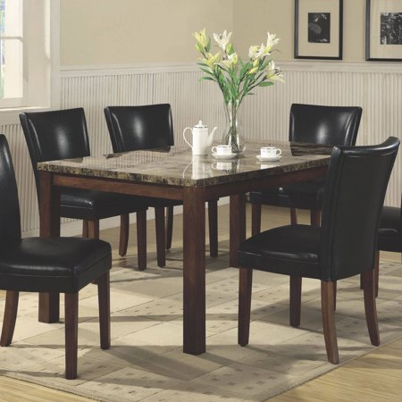 Coaster Company Telegraph Faux Marble Dining Table, Brown ...