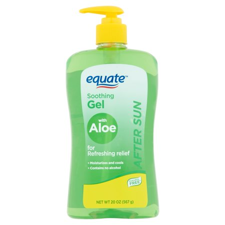 (3 pack) Equate After Sun Soothing Gel with Aloe, 20 oz