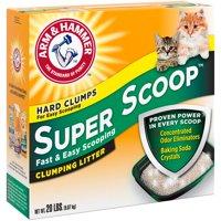 Arm & Hammer Clumping Cat Litter Super Scoop, 20-lb