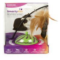 SmartyKat Feather Whirl Electronic Motion Ball Cat Toy