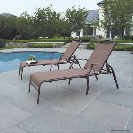 Mainstays Sand Dune Outdoor Chaise Lounges, Set of (2 Seat Lounge)
