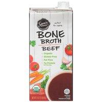 (6 Pack) Sam's Choice Organic Bone Broth, Beef, 32 oz