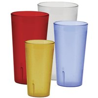 Winco Pebbled 12 oz. Plastic Every Day Glass (Set of 12)