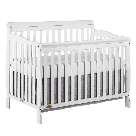 Dream On Me Ashton 5-in-1 Convertible Crib, White ()